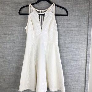 Free People Off White Sleeveless Mini Dress Size 9